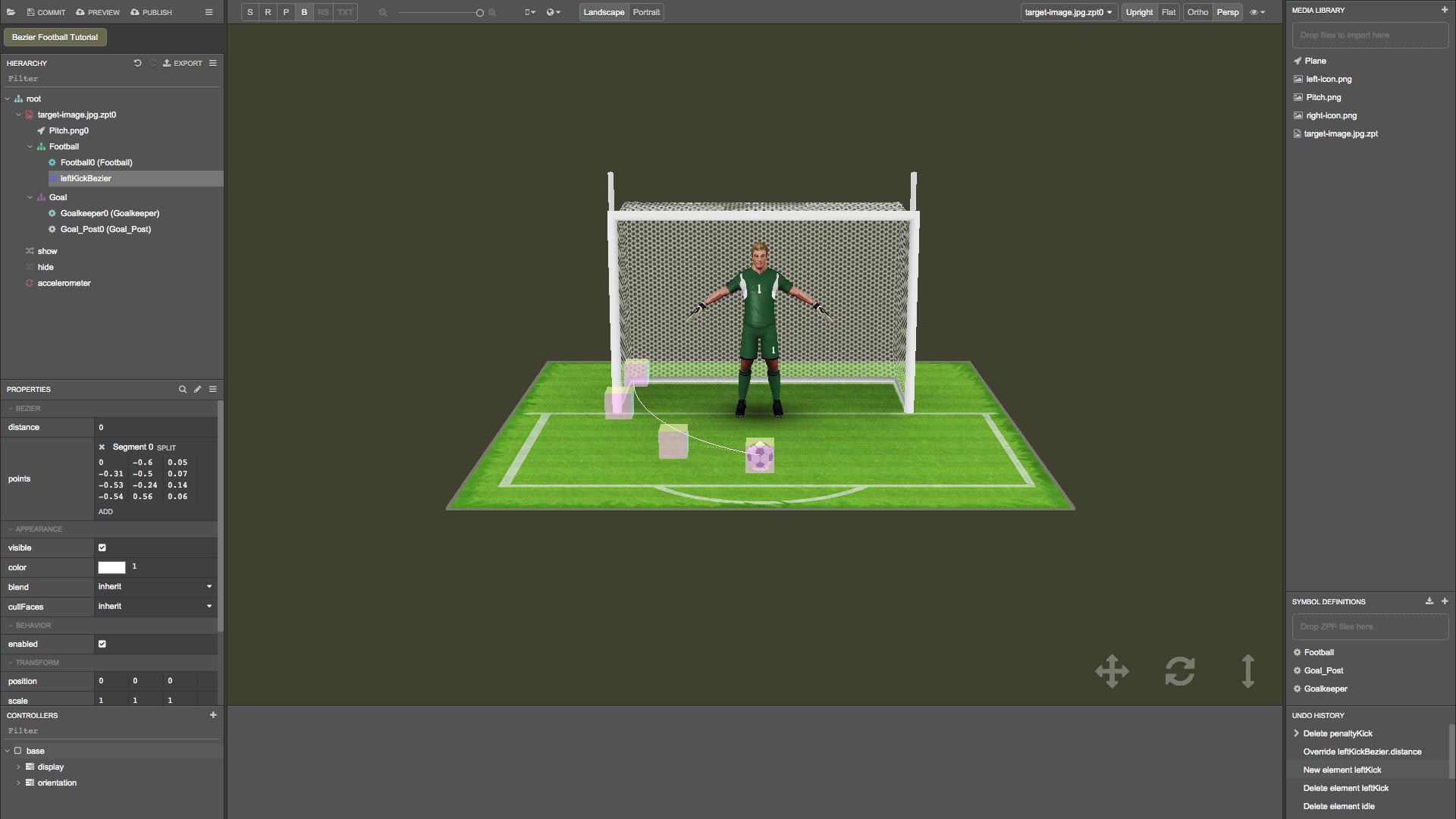 Build a Football Game in ZapWorks Studio - Tutorials (Beta